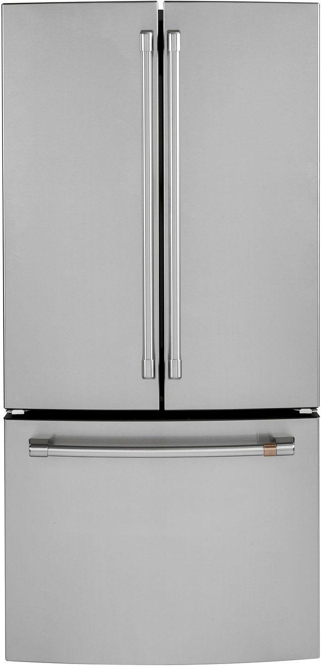 Réfrigérateur à portes françaises à profondeur de comptoir de 33 po Cafe™ de 18,6 pi³ - Acier inoxydable-CWE19SP2NS1