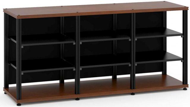 Salamander Designs® Synergy Triple 30 AV Cabinet-Dark Cherry/Black-SL30C/B