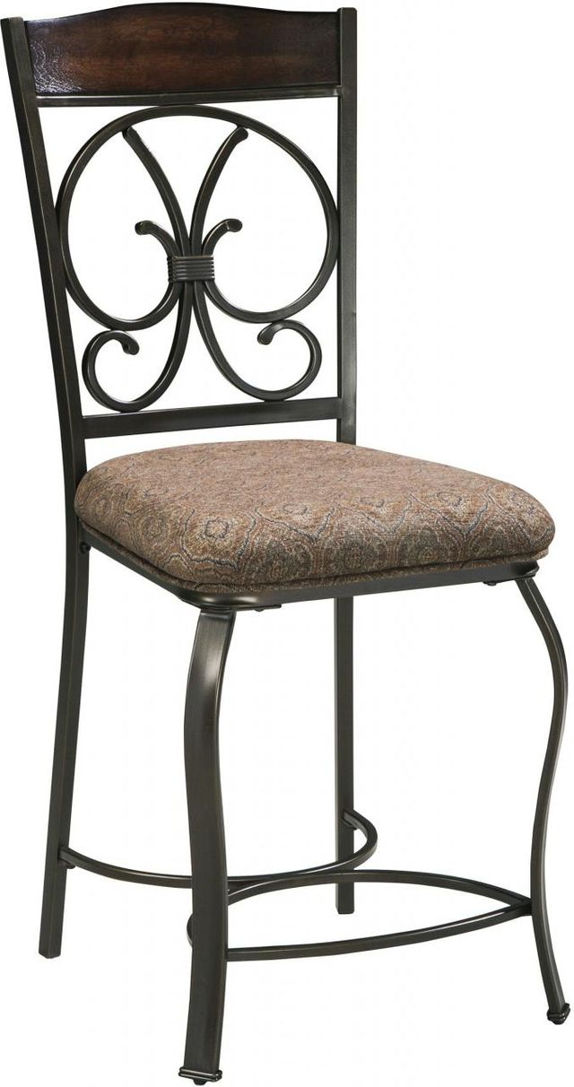 Signature Design by Ashley® Glambrey Brown Upholstered Barstool-D329-124
