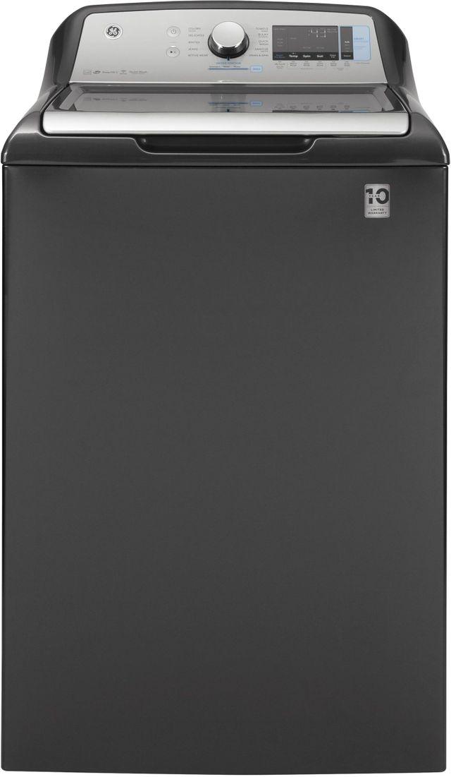 GE® 5.0 Cu. Ft. Diamond Gray Top Load Washer-GTW845CPNDG