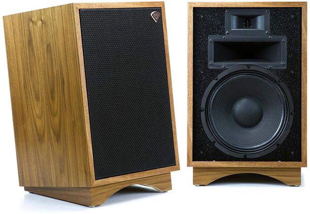 Klipsch® Heritage Walnut Heresy® III Floorstanding Speaker Pair-1007423