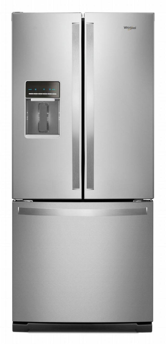 Réfrigérateur à portes françaises de 30 po Whirlpool® de 19,7 pi³ - Acier inoxydable résistant aux traces de doigts-WRF560SEHZ