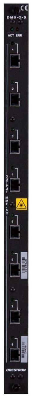 Crestron® 8-Channel DigitalMedia 8G™ Fiber Output Blade-DMB-O-S