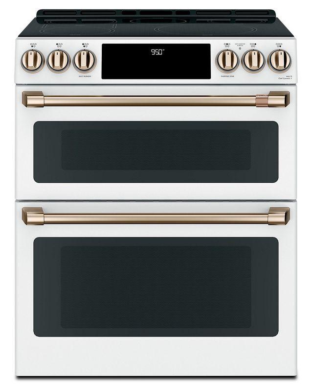 Cuisinière électrique encastrée Cafe™ de 6,7 pi³ de 30 po - Blanc mat-CCES750P4MW2