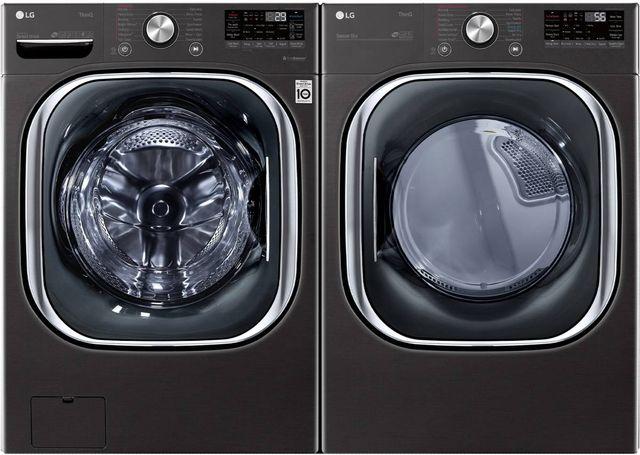 LG Black Steel Front Load Laundry Pair-LGLAUDLGX4501B
