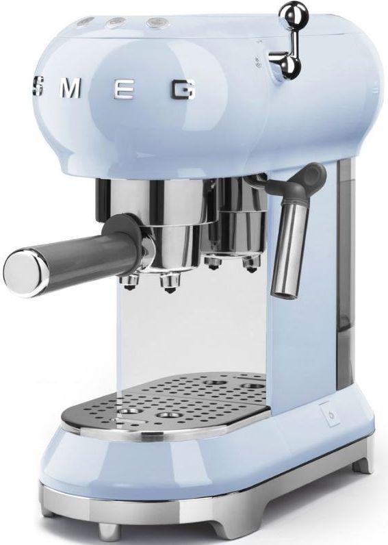 Smeg 50's Retro Style Espresso Coffee Machine-Pastel Blue-ECF01PBUS
