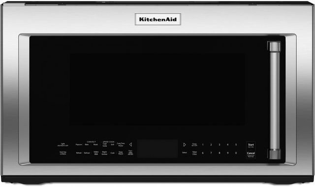 KitchenAid® 1.9 Cu. Ft. Stainless Steel Over The Range Microwave-KMHP519ESS