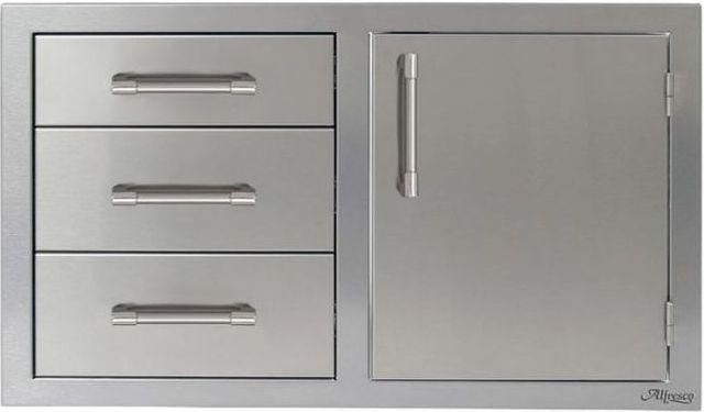 "Alfresco™ ALXE Series 32"" Combo Door Plus Drawers-Stainless Steel-AXE-DDC-R"