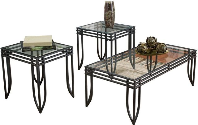 Signature Design by Ashley® Exeter Black/Brown Occasional Table Set (3/CN)-T113-13