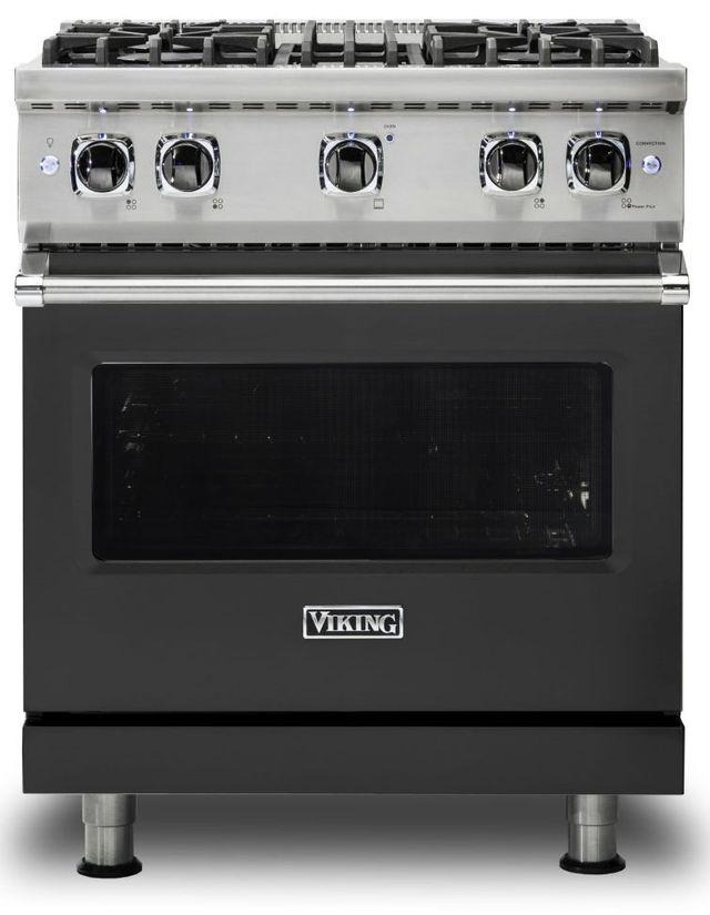 "Viking® 5 Series 30"" Cast Black Pro Style Liquid Propane Gas Range-VGR5304BCSLP"