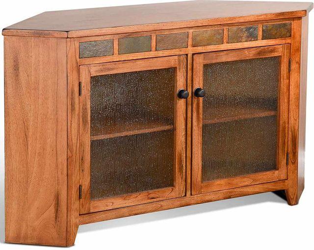 """Sunny Designs Sedona Rustic Oak 55"""" Corner TV Console-3399RO2"""