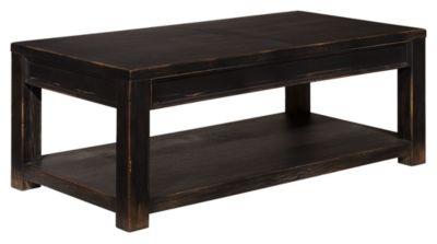 Signature Design by Ashley® Gavelston Black Rectangular Coffee Table-T732-1