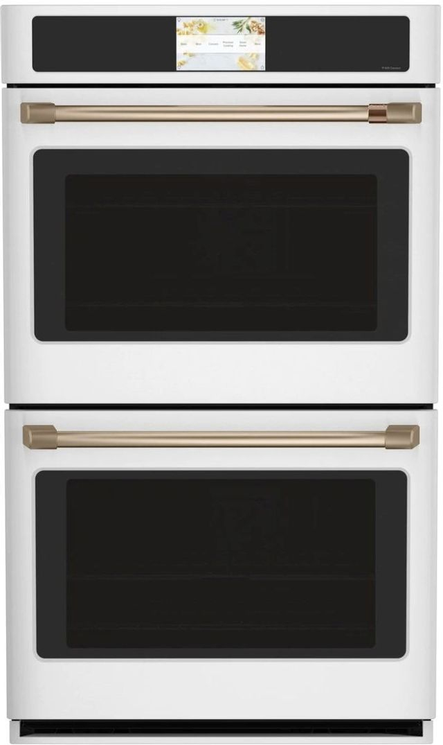 """Café™ Professional Series 30"""" Matte White Double Electric Wall Oven-CTD90DP4NW2"""