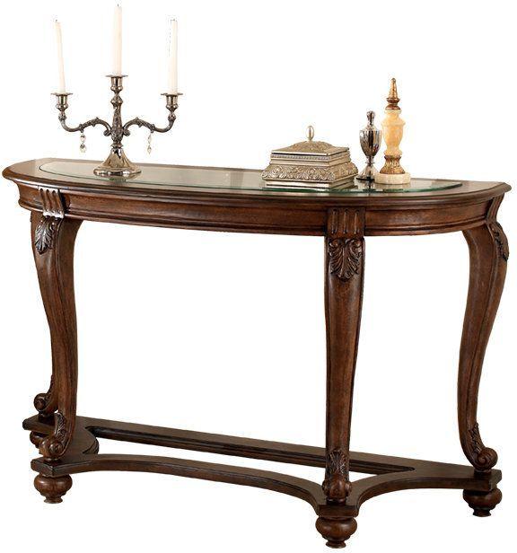 Signature Design by Ashley® Norcastle Dark Brown Sofa Table-T499-4