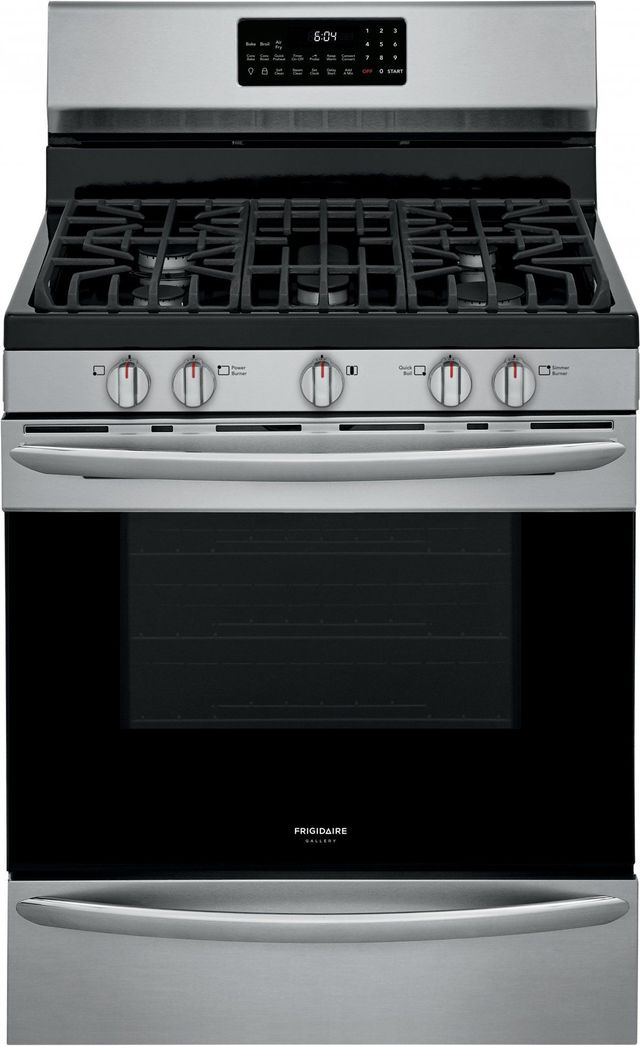 """Frigidaire Gallery® 30"""" Stainless Steel Free Standing Gas Range with Air Fry-GCRG3060AF"""