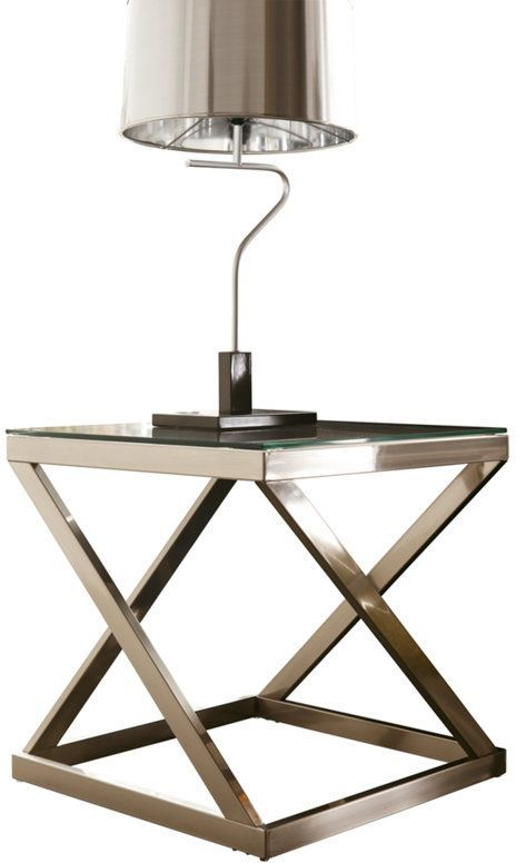 Signature Design by Ashley® Coylin Brushed Nickel Finish Square End Table-T136-2