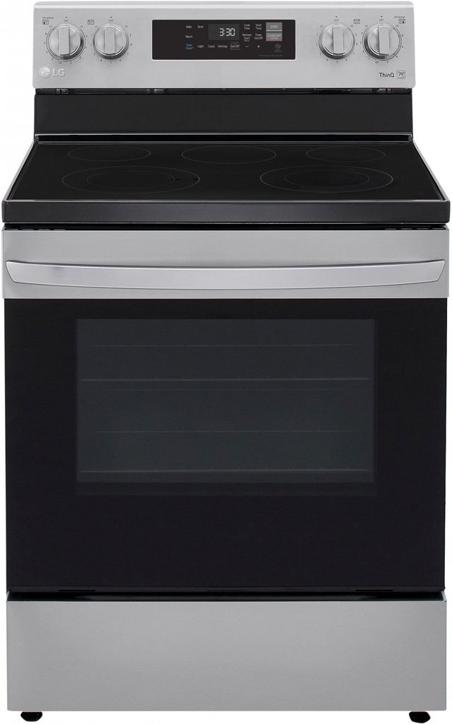 Cuisinière électrique autoportante de 6,3 pi³ LG® de 30 po - Acier inoxydable-LREL6321S