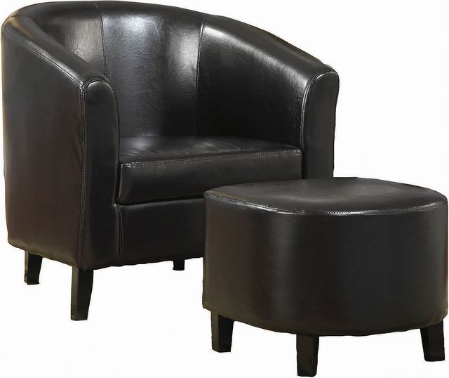 Coaster® Dark Brown Accent Seating Chair & Ottoman Sets-900240