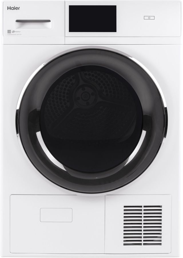 Haier 4.1 Cu. Ft. White Front Load Electric Dryer-QFT15ESSNWW