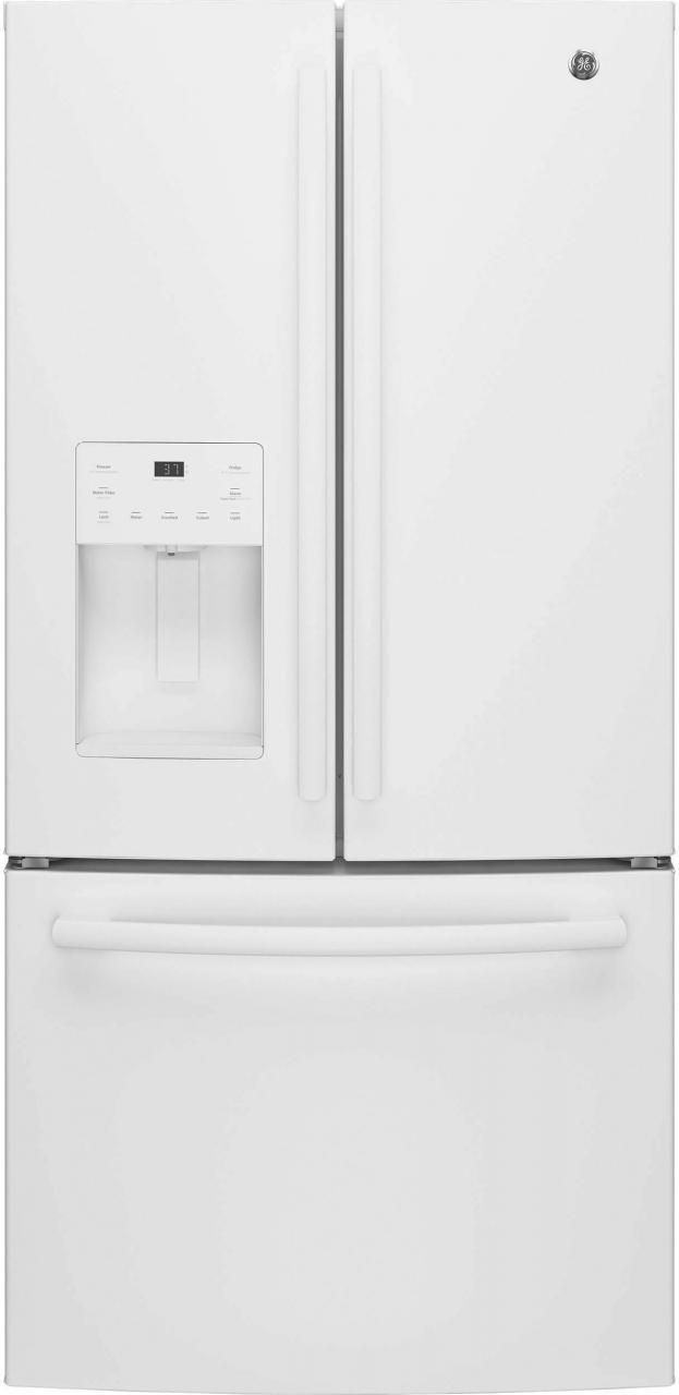 GE® Series 23.8 Cu. Ft. French Door Refrigerator-White-GFE24JGKWW