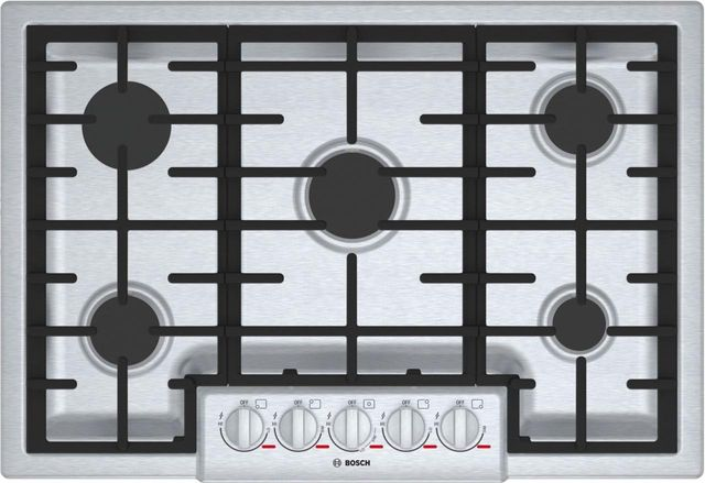"""Bosch Benchmark® Series 31"""" Stainless Steel Gas Cooktop-NGMP056UC"""