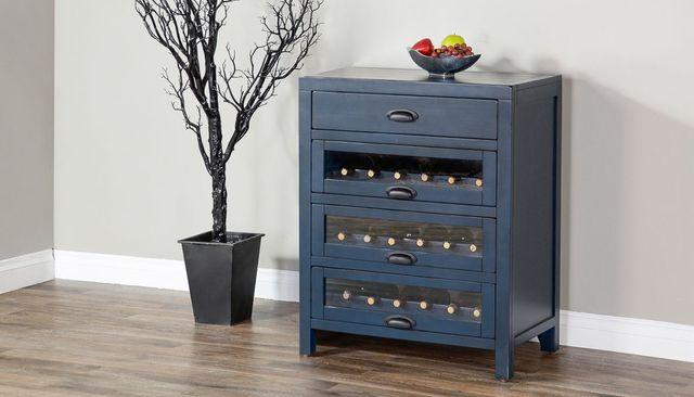 Sunny Designs Fountain Pen Blue Server with Single Wine Rack-1990FB-S