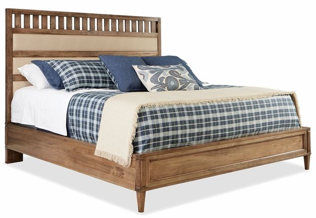 Durham Furniture Escarpment Desert Sand High Upholstered Bed Queen-181-126