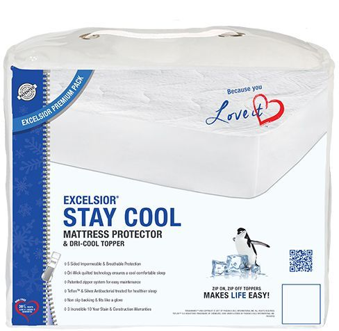 Protège-matelas et couvre-matelas simple Stay Cool Excelsior®-G2-10STAYCOOL39