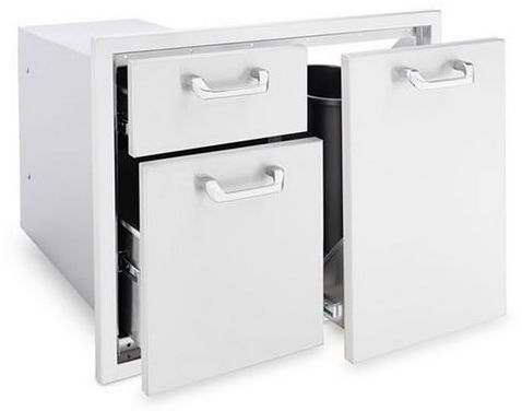 """Lynx Professional 30"""" Trash Center & Double Drawer Combo-Stainless Steel-LTA30"""