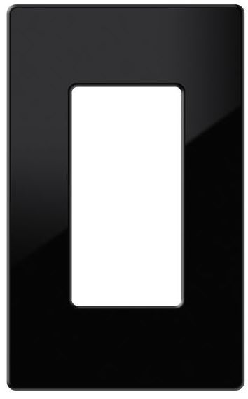 Crestron® Decorator Style 1-Gang Faceplate-Black Textured-FP-G1-B-T