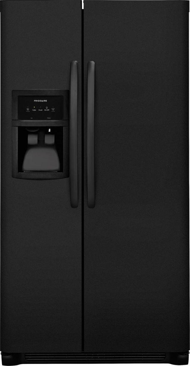 Frigidaire® 22.1 Cu. Ft. Standard Depth Side by Side Refrigerator-Ebony Black-FFHX2325TE