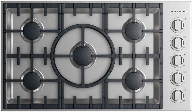 """Fisher & Paykel Professional 36"""" Gas Cooktop-Stainless Steel-CDV2-365HN N"""
