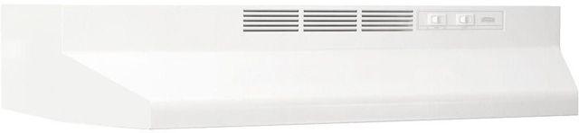 "Broan® 41000 Series 36"" White Ductless Under Cabinet Range Hood-413601"
