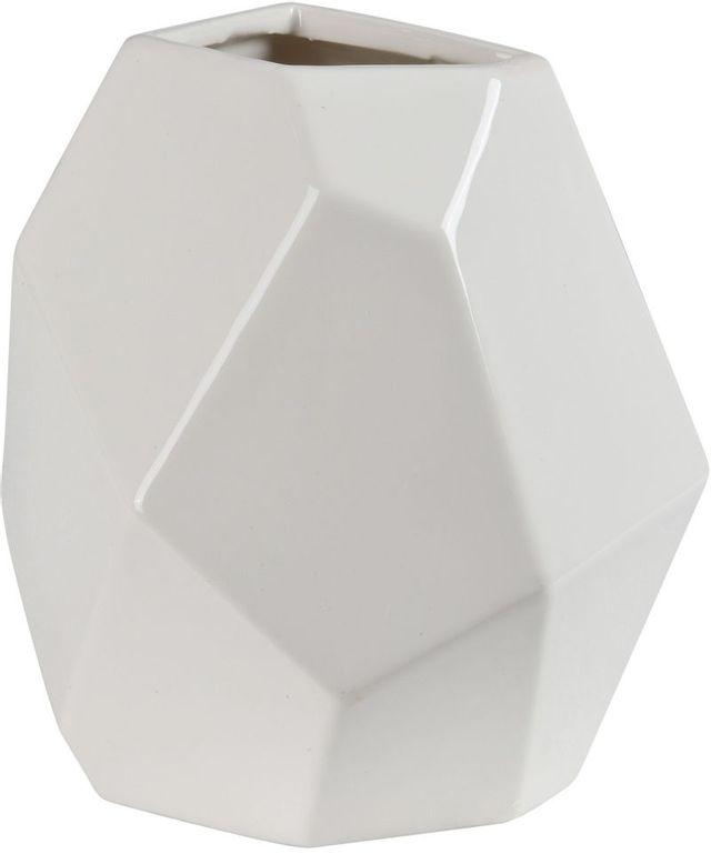Vase brillant Martins, blanc brillant, Renwil®-STA575