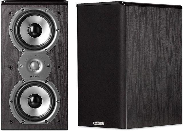 "Polk Audio® TSI Series TSI200 Black 5.25"" Bookshelf Speaker (Pair)-AM4205"