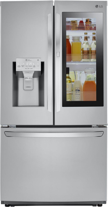 Réfrigérateur à portes françaises à profondeur de comptoir de 36 po LG® de 21,9 pi³ - Acier inoxydable-LFXC22596S