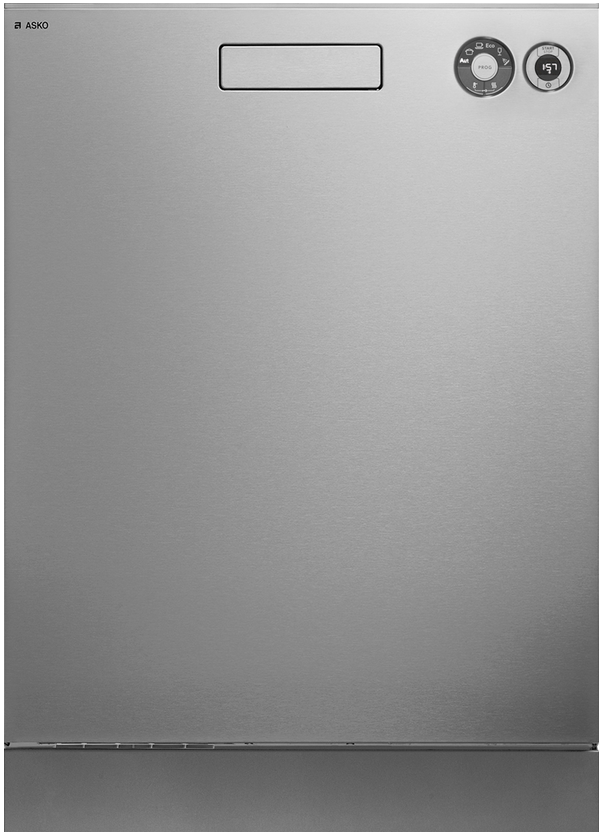 """ASKO Front Control 26"""" Built In Dishwasher-Stainless Steel-D5426XLS"""