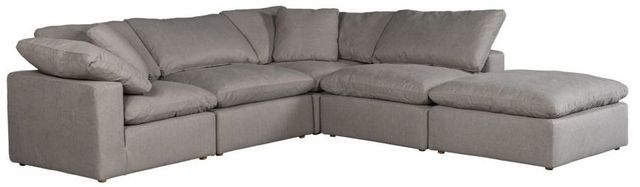 Moe's Home Collections Clay Dream Grey Livesmart Modular Sectional-YJ-1011-29