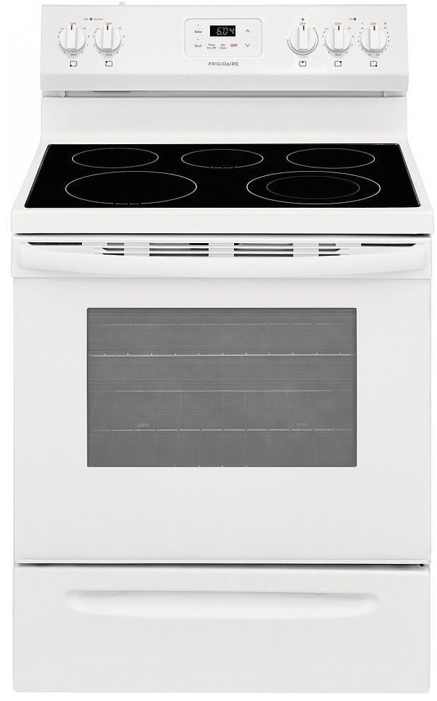 Cuisinière électrique autoportante Frigidaire® de 4,8 pi³ de 30 po - Blanc-FCRE305CAW