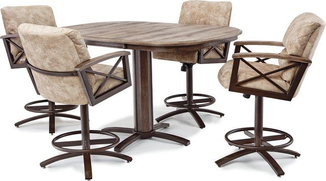 Chromcraft™ G&D Metalcraft™ Dining Table-ML324D+MB436-1GD-2G