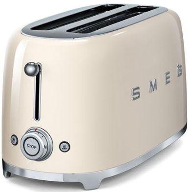 Smeg 50's Retro Style 4 Slice Toaster-Cream-TSF02CRUS