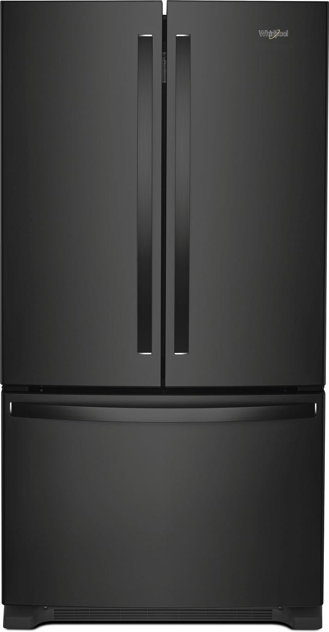 Whirlpool® 25.19 Cu. Ft. Wide French Door Refrigerator-Black-WRF535SMHB