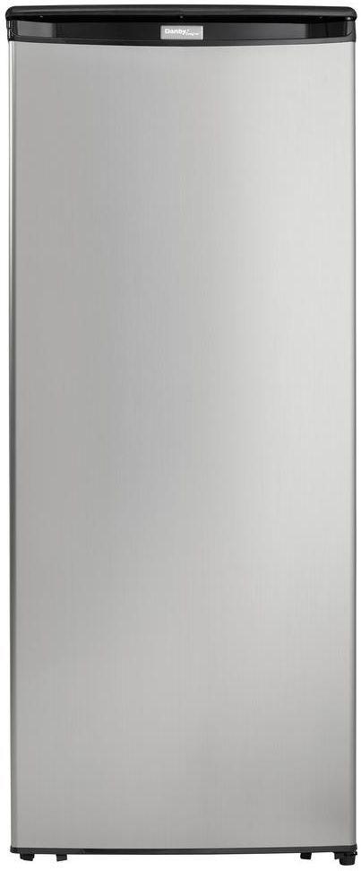 Danby® Designer 8.5 Cu. Ft. Black with Stainless Steel Upright Freezer-DUFM085A4BSLDD