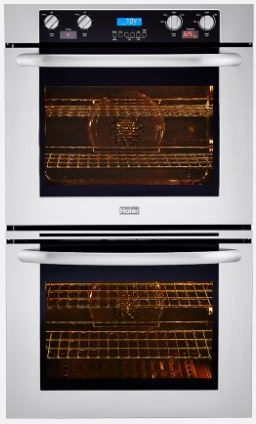 """Haier 30"""" Double Convection Oven-Stainless Steel-HCW3485AES"""