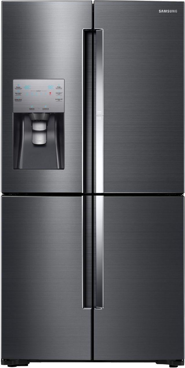 Samsung 22.0 Cu. Ft. Counter Depth 4-Door Flex™ Refrigerator-Fingerprint Resistant Black Stainless Steel-RF22K9381SG