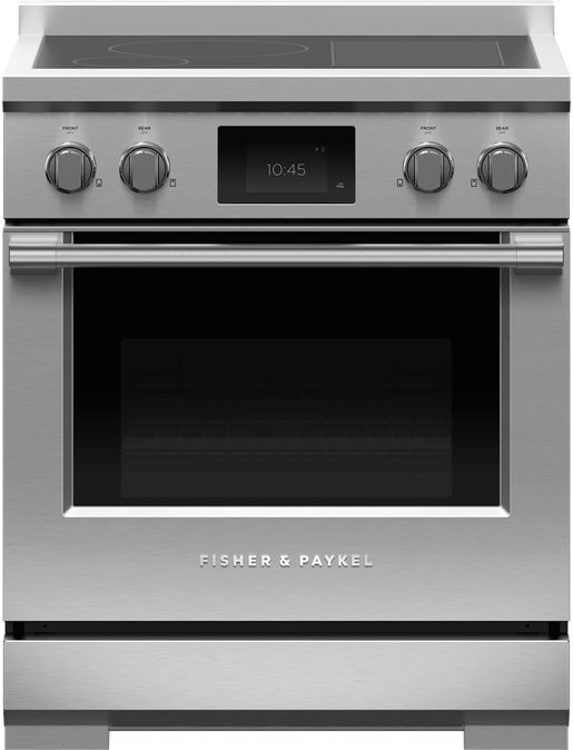 """Fisher & Paykel Series 9 30"""" Stainless Steel Free Standing Professional Electric Induction Range-RIV3-304"""