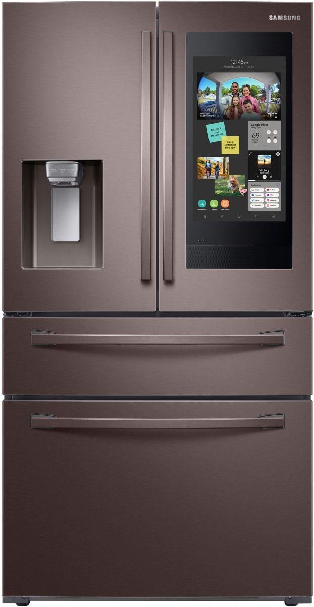 Samsung 22.2 Cu. Ft. Fingerprint Resistant Tuscan Stainless Steel Counter Depth French Door Refrigerator-RF22R7551DT