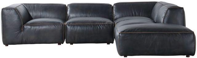 Sectionnel modulaire Luxe en cuir noir Moe's Home Collections®-QN-1023-01