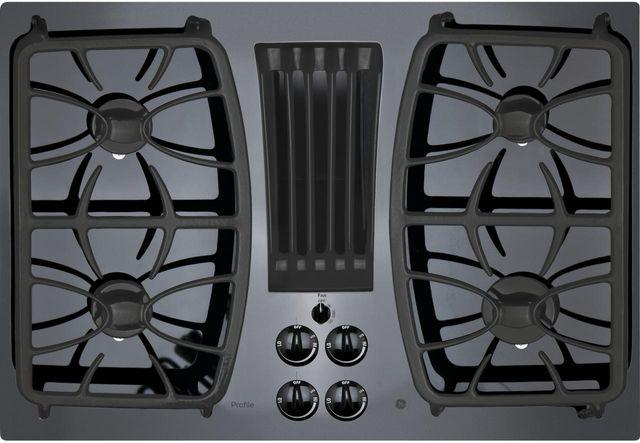 "GE Profile™ Series 30"" Black Gas Cooktop-PGP9830DJBB"