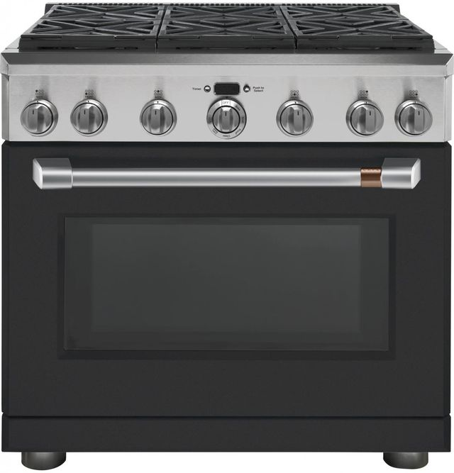 "Café™ 36"" Matte Black Professional Style Gas Range-CGY366P3MD1"